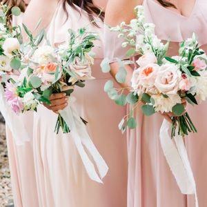 Jenny Yoo Dresses - Jenny Yoo Collection Cold Shoulder Chiffon